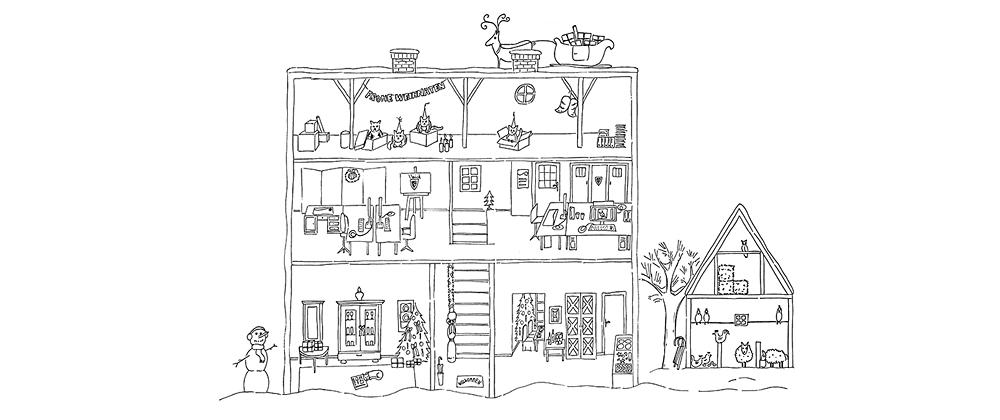 Motiv Weihnachtskarte Atelier deVincent  2015